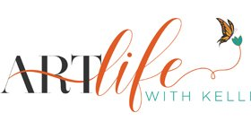 An image of the logo for the art instruction business Art Life with Kelli owned by Kelli Folsom